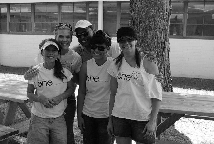 this crafty group assembled and painted new picnic tables and benches