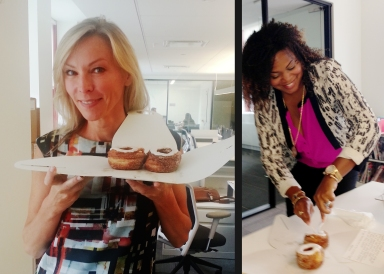 enjoying cronuts at our new york office
