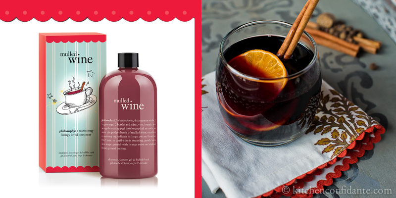mulled wine shower gel: philosophy.com | mulled wine photo credit: kitchen confidante.com